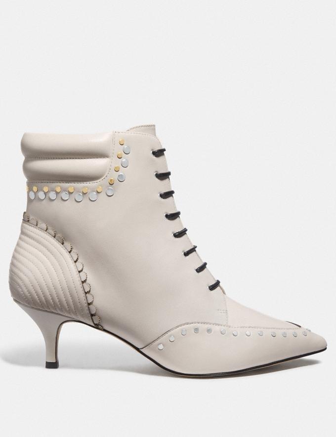 Coach Coach X Tabitha Simmons Jaden Lace Up Bootie Chalk SALE Women's Sale Shoes Alternate View 1