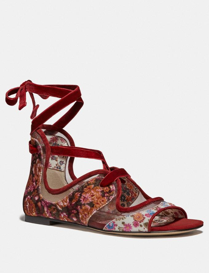 Coach Coach X Tabitha Simmons Liza Sandal Cranberry Women Shoes Sandals