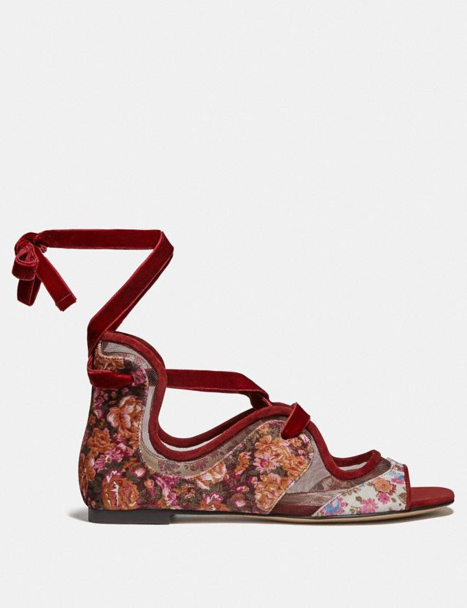 Coach Coach X Tabitha Simmons Liza Sandal Cranberry New Featured Coach x Tabitha Simmons Alternate View 1