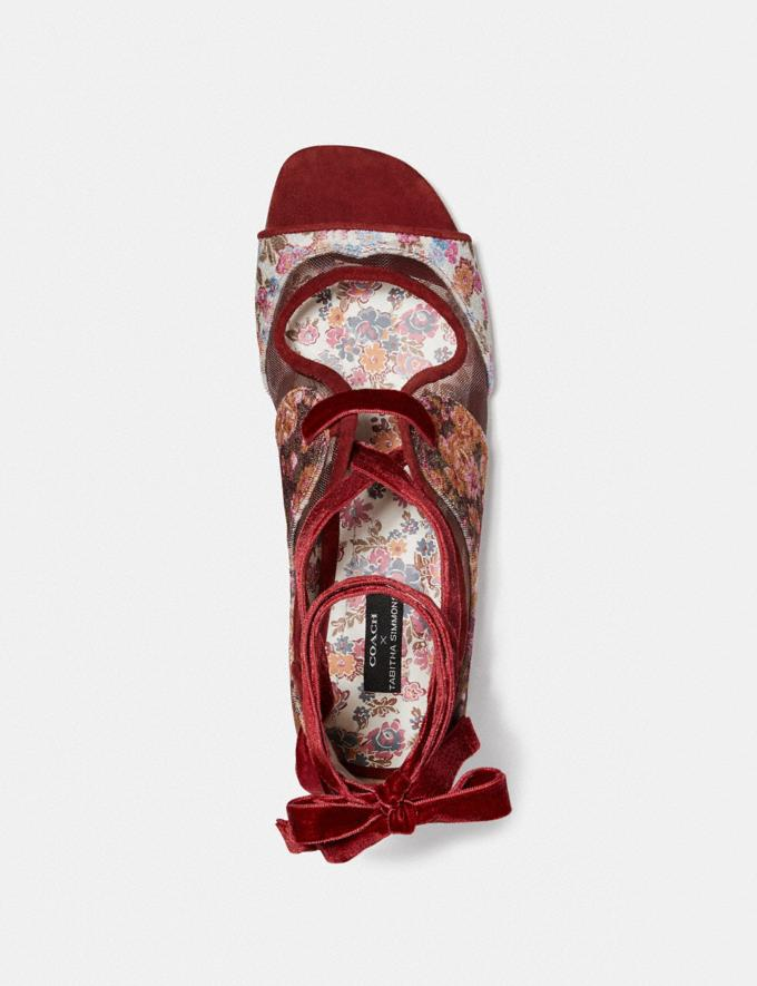 Coach Coach X Tabitha Simmons Liza Sandal Cranberry New Featured Coach X Tabitha Simmons Alternate View 2