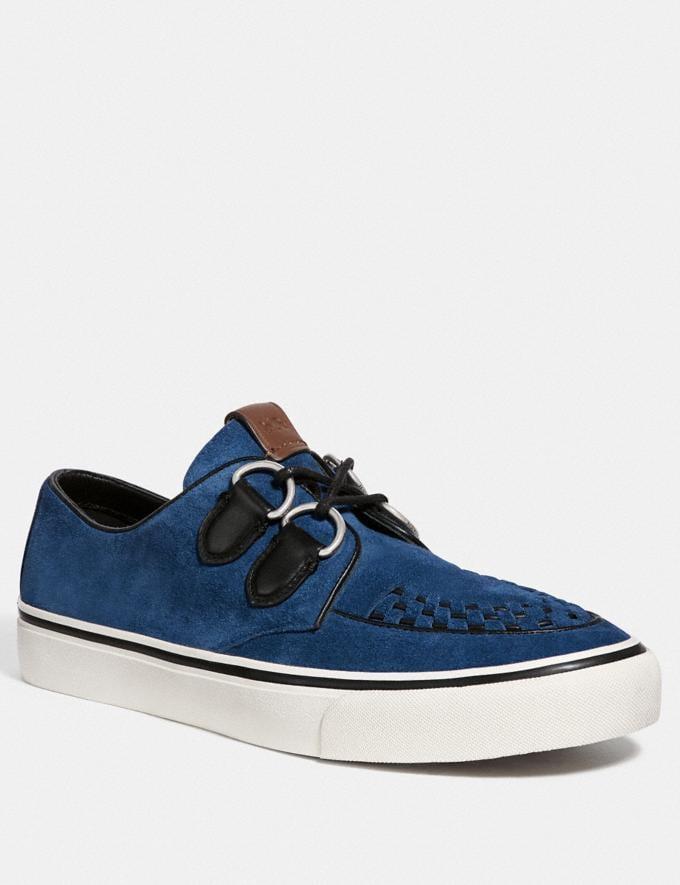 Coach C175 Low Top Sneaker Deep Blue New Men's New Arrivals Shoes