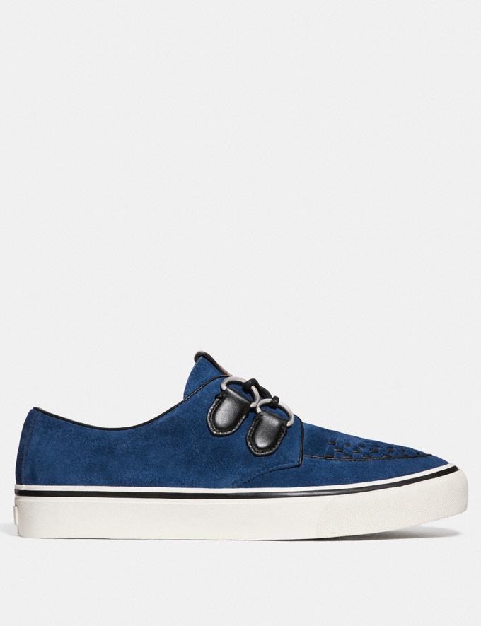 Coach C175 Low Top Sneaker Deep Blue New Men's New Arrivals Shoes Alternate View 1