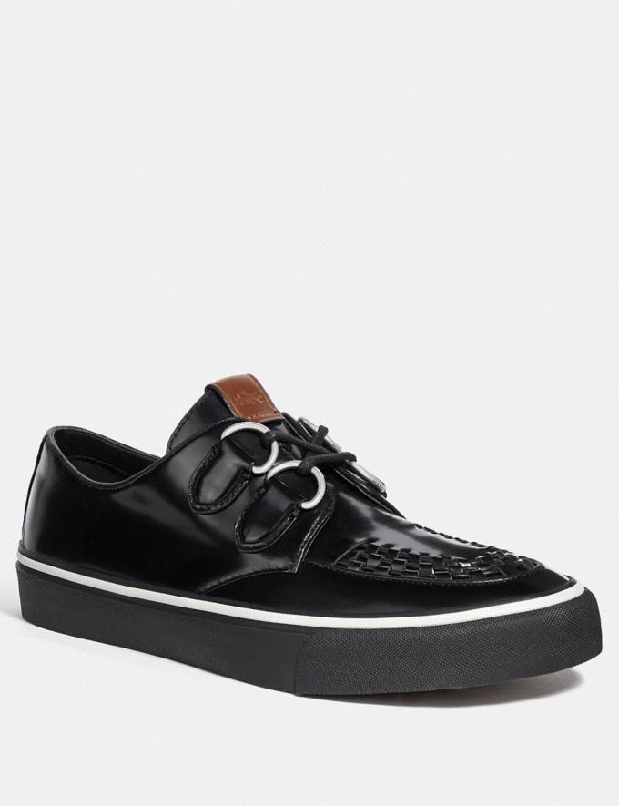 Coach C175 Low Top Sneaker Black Men Shoes Sneakers