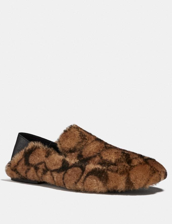 Coach Slipper Camel New Men's New Arrivals Collection