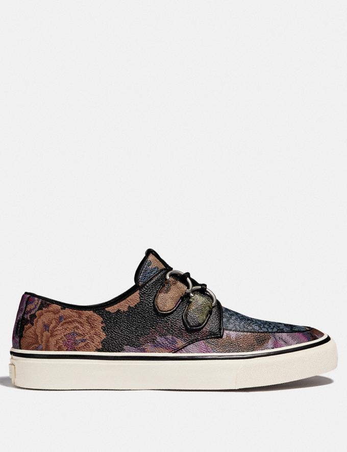 Coach C175 Low Top Sneaker With Kaffe Fassett Print Multi All Over  Alternate View 1