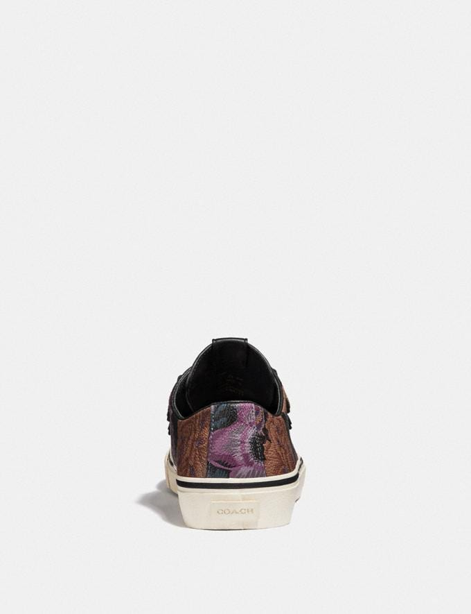 Coach C175 Low Top Sneaker With Kaffe Fassett Print Multi All Over  Alternate View 3