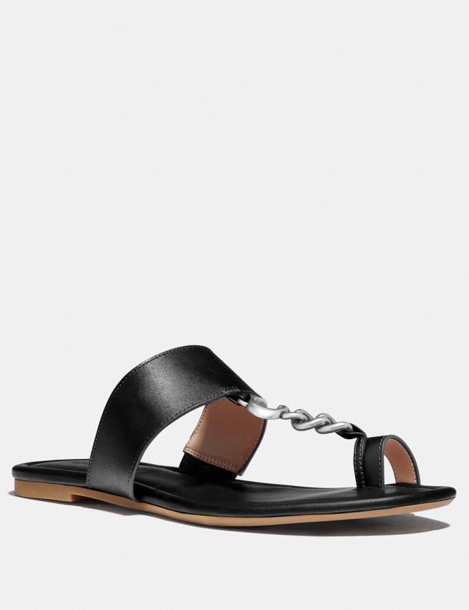 Coach Jaimee Sandal Black Women Shoes Sandals
