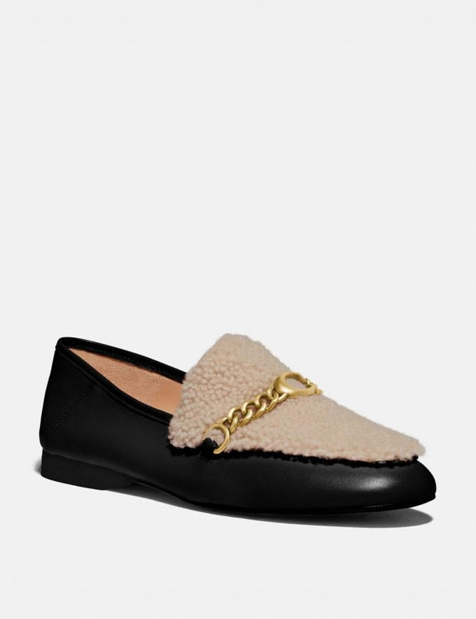 Coach Helena Loafer Black/Natural New Women's New Arrivals Shoes