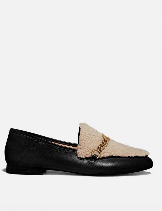 Coach Helena Loafer Black/Natural New Women's New Arrivals Shoes Alternate View 1