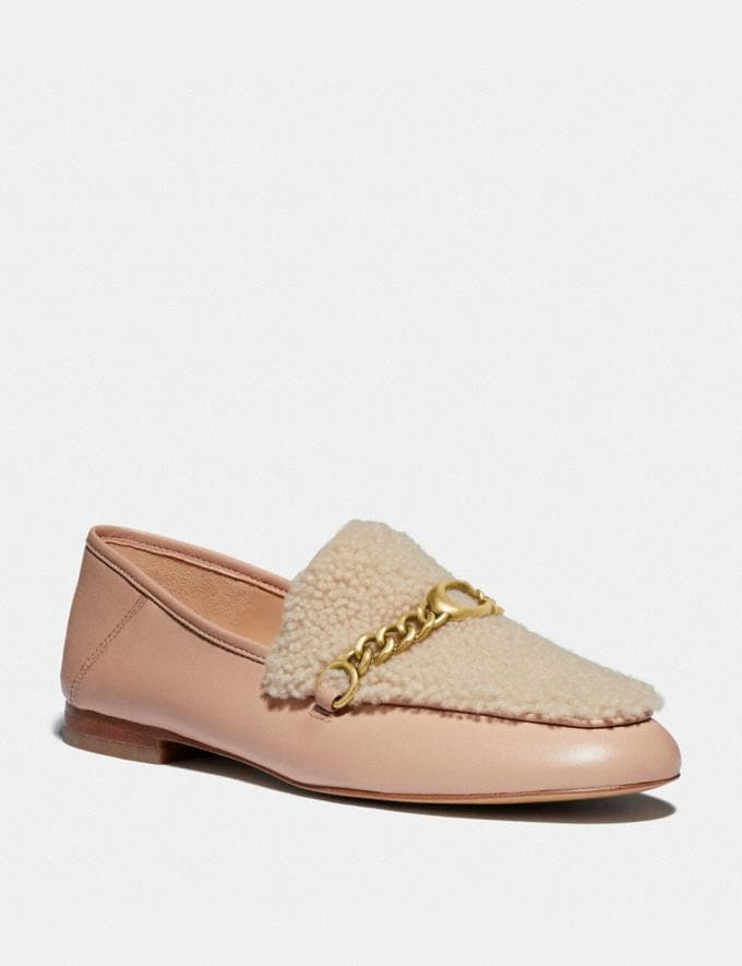 Coach Helena Loafer Pale Blush/Natural New Women's New Arrivals Shoes