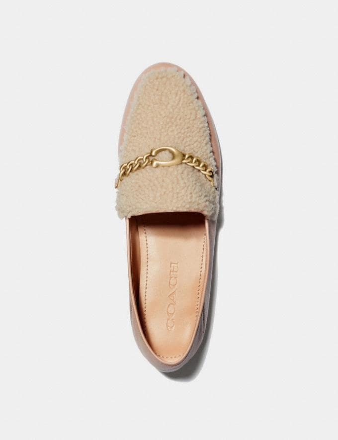 Coach Helena Loafer Pale Blush/Natural New Women's New Arrivals Shoes Alternate View 2