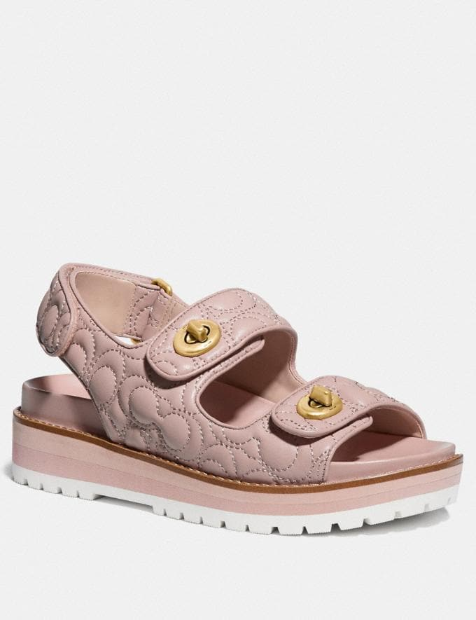 Coach Kacie Sandal Pale Blush Women Shoes Sandals