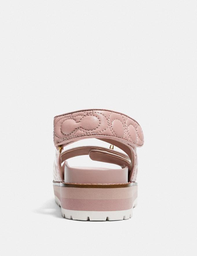 Coach Kacie Sandal Pale Blush Women Shoes Sandals Alternate View 3