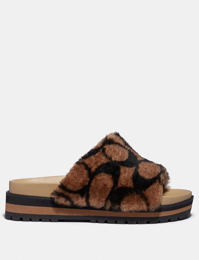 Coach Kloe Slide Saddle/Black Women Shoes Sandals Alternate View 1