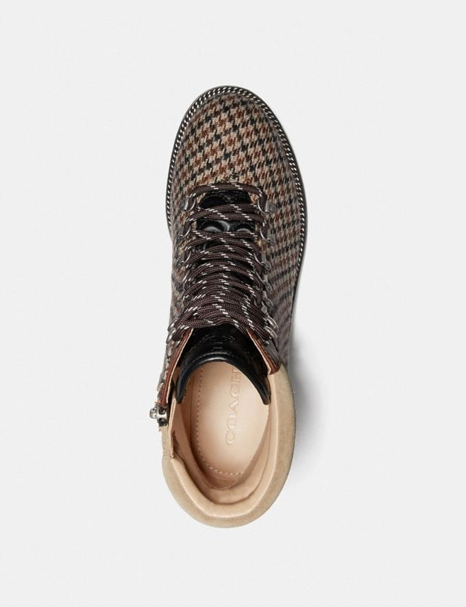 Coach Lorren Bootie With Houndstooth Print Oat/Tan Brown New Women's New Arrivals Shoes Alternate View 2