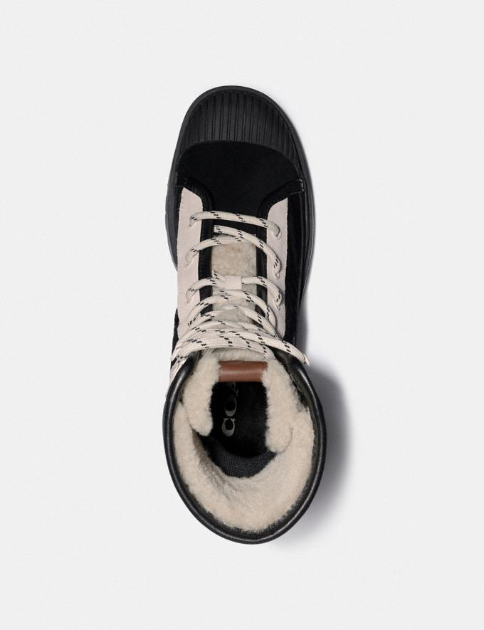 Coach Sidney Bootie Black/Heather Grey New Women's New Arrivals Shoes Alternate View 2