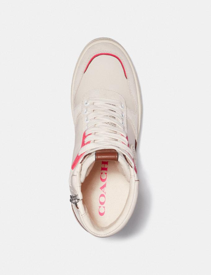 Coach C220 Hightop-Sneaker KalkweiSS/Fluo Rosa Damen Schuhe Sneaker Alternative Ansicht 2