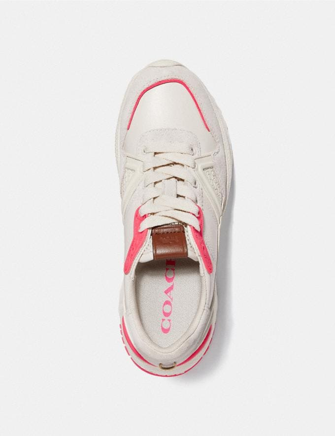 Coach C143 Runner Chalk/Fluo Pink  Alternate View 2