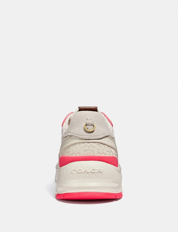 Coach C143 Runner Chalk/Fluo Pink  Alternate View 3
