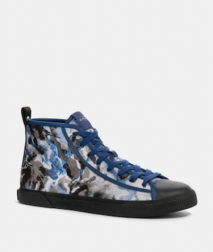 C207 HIGH TOP SNEAKER WITH COACH PATCH