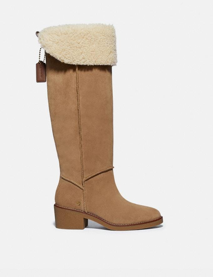 Coach Janelle Boot Peanut/Natural  Alternate View 1