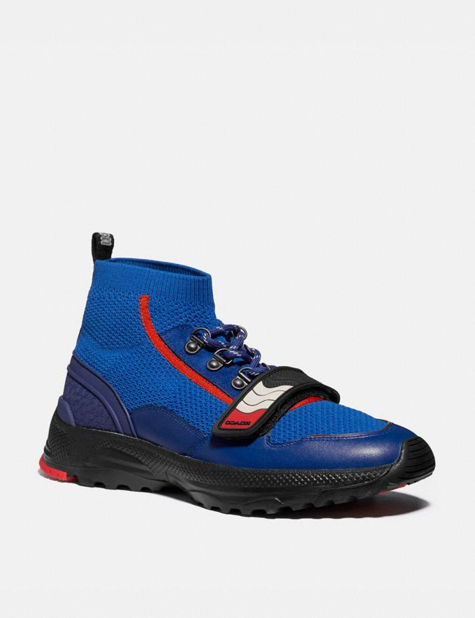 Coach C243 One Strap Runner Sport Blue/Multi New Men's New Arrivals Shoes