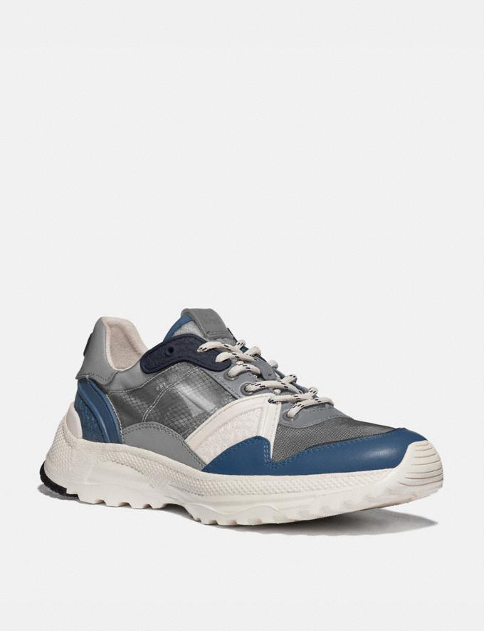 Coach C143 Runner Heather Grey Denim