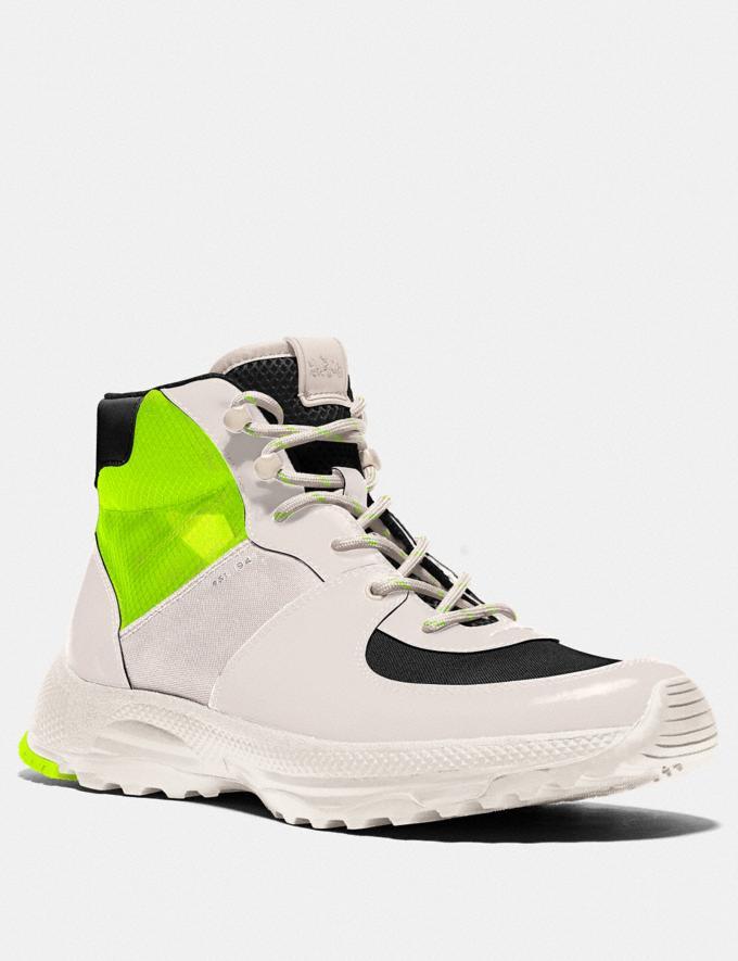 Coach C250 Hiker Boot Chalk Men Shoes Boots