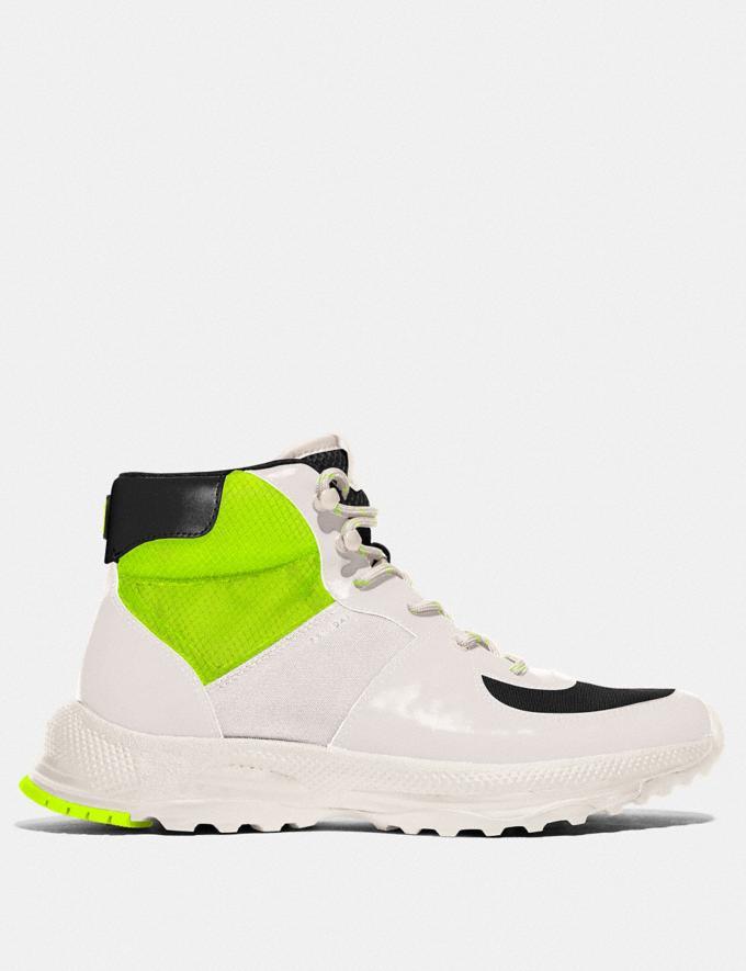 Coach C250 Hiker Boot Chalk Men Shoes Boots Alternate View 1
