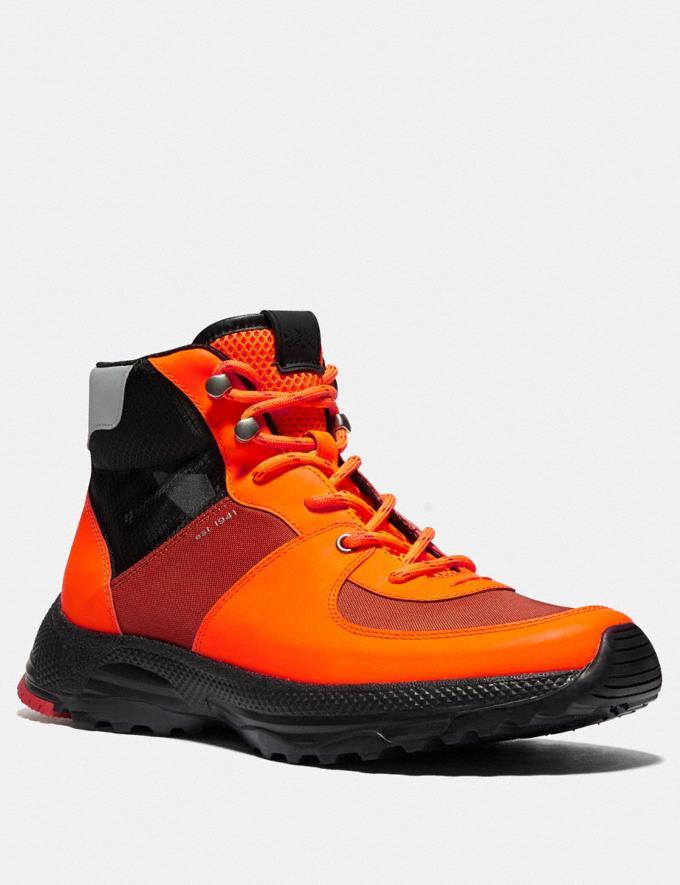 Coach Stivale Hiker C250 Arancione Fluo Uomo Calzature Stivali