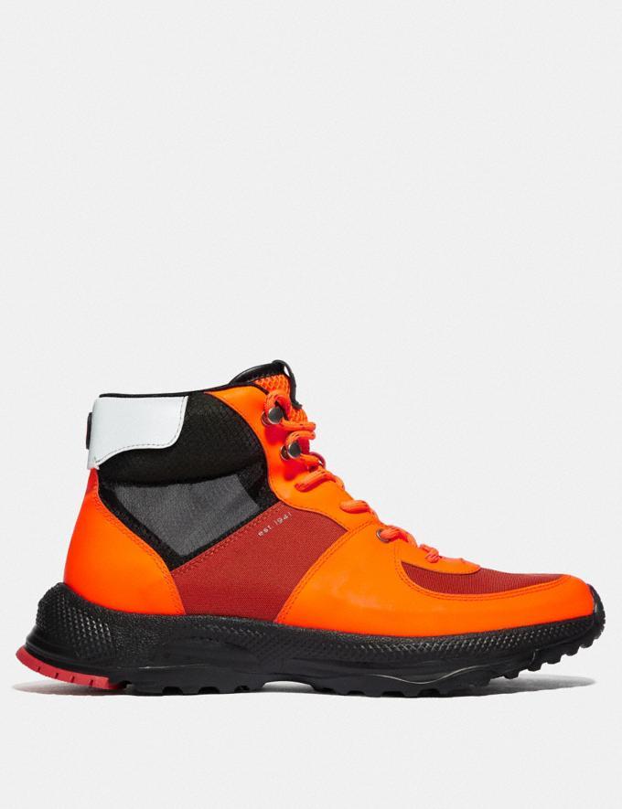 Coach Bota Hiker C250 Naranja Fluorescente Hombre Calzado Botas Vistas alternativas 1