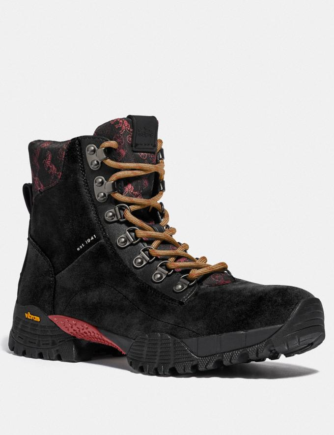 Coach Hybrid Urban Hiker Boot With Horse and Carriage Print Black Multi