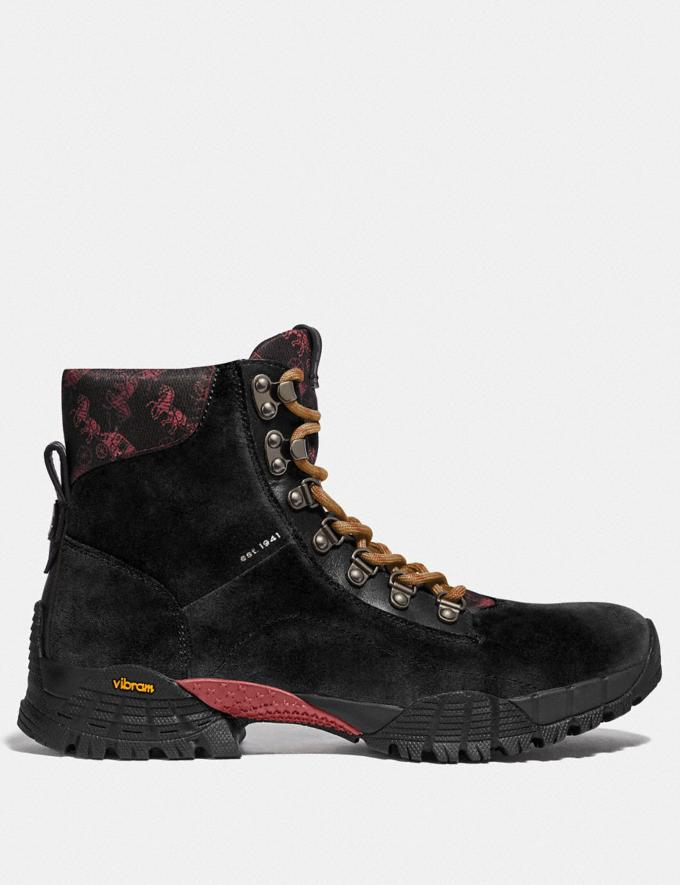 Coach Hybrid Urban Hiker Boot With Horse and Carriage Print Black Multi New Men's New Arrivals Collection Alternate View 1