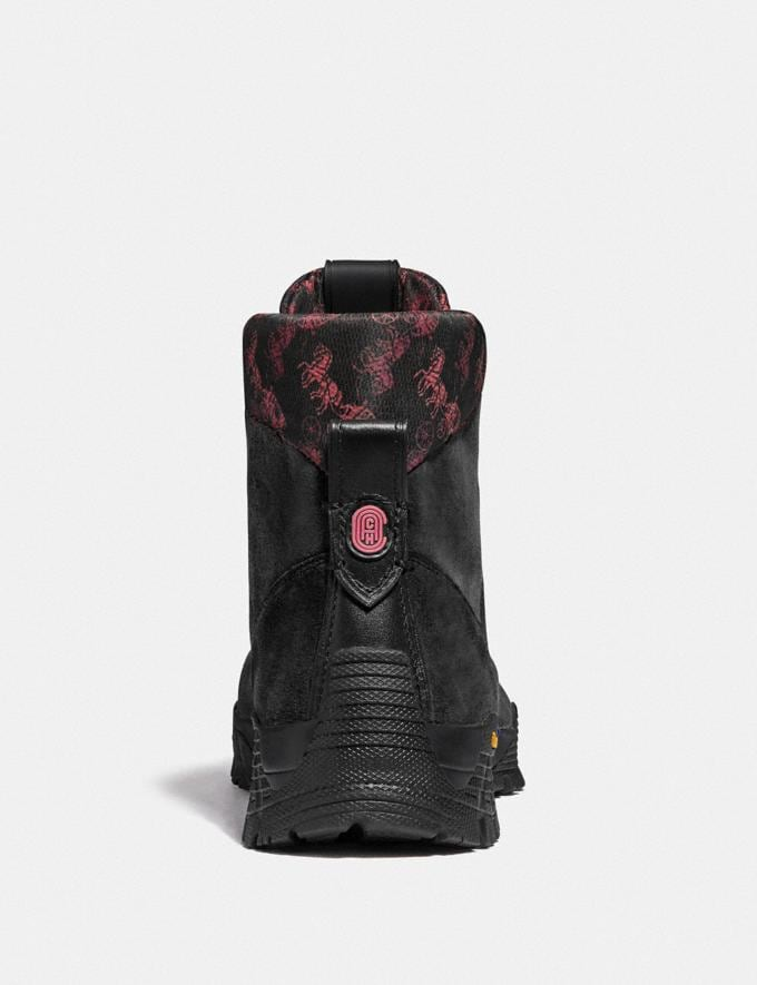 Coach Hybrid Urban Hiker Boot With Horse and Carriage Print Black Multi  Alternate View 2