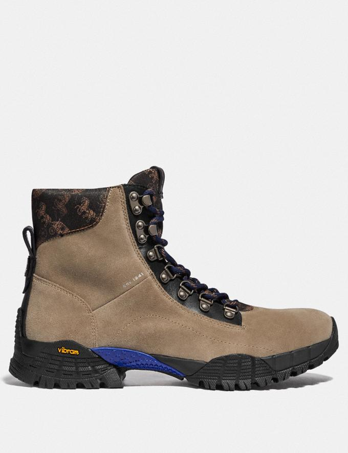 Coach Hybrid Urban Hiker Boot With Horse and Carriage Print Mushroom Multi New Men's New Arrivals Collection Alternate View 1