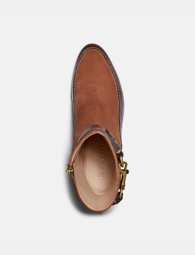 Coach Corrine Bootie 1941 Saddle/Walnut New Women's New Arrivals Shoes Alternate View 2
