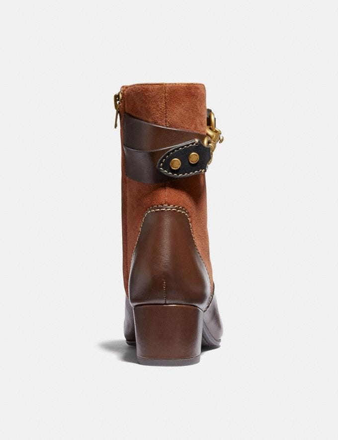 Coach Corrine Bootie 1941 Saddle/Walnut New Women's New Arrivals Shoes Alternate View 3