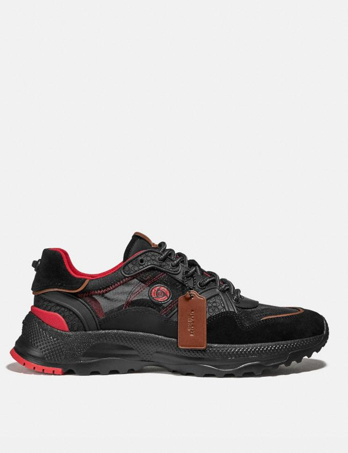 Coach Coach X Michael B. Jordan C143 Runner Black Ninjutsu Red Men Shoes Trainers Alternate View 1