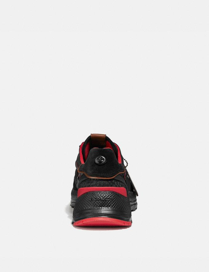 Coach Coach X Michael B. Jordan C143 Runner Black Ninjutsu Red Men Shoes Sneakers Alternate View 3