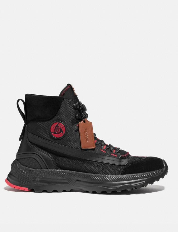 Coach Coach X Michael B. Jordan Hybrid Urban Hiker Black Ninjutsu Red Men Shoes Alternate View 1