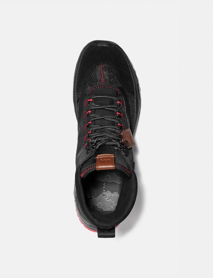 Coach Coach X Michael B. Jordan Hybrid Urban Hiker Black Ninjutsu Red Men Shoes Alternate View 2