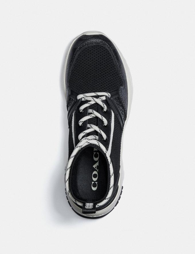 Coach C245 High Top Runner Black/White SALE Women's Sale Shoes Alternate View 2