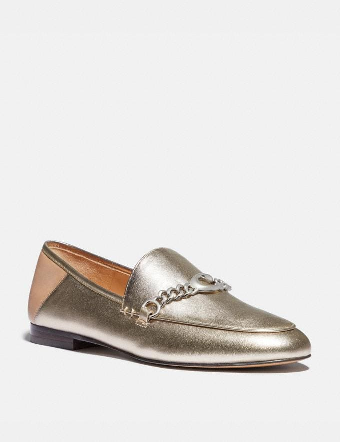 Coach Helena Loafer Platinum Champagne Women Shoes Flats