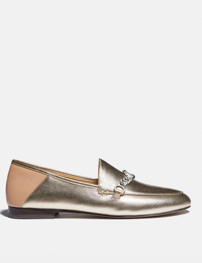 Coach Helena Loafer Platinum Champagne Women Shoes Flats Alternate View 1
