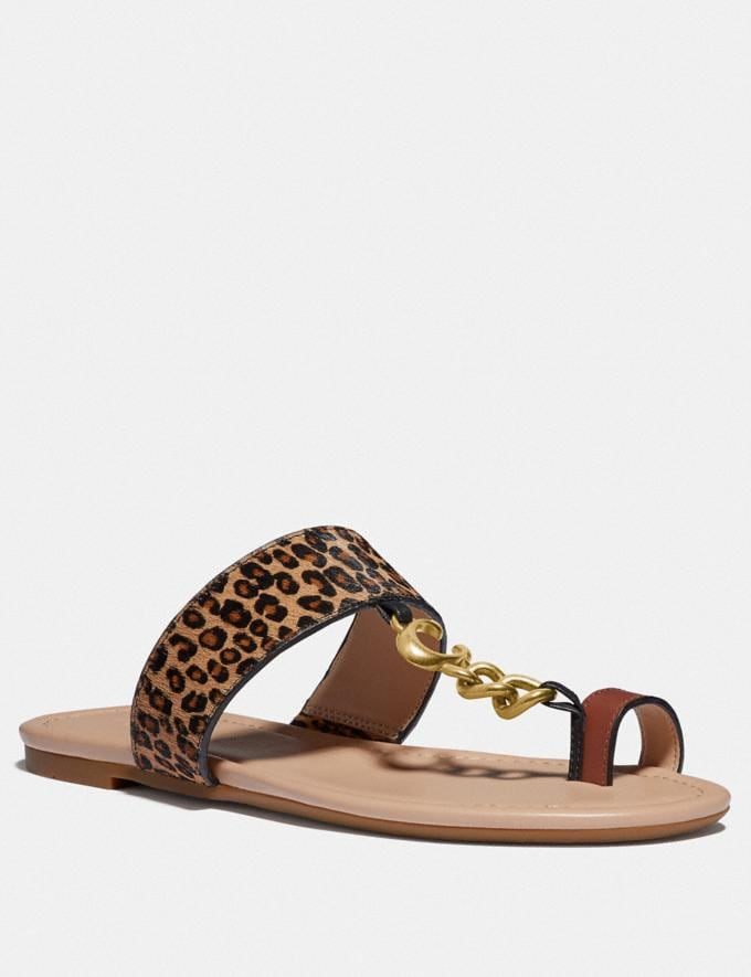 Coach Jaimee Sandal Natural Women Shoes Sandals