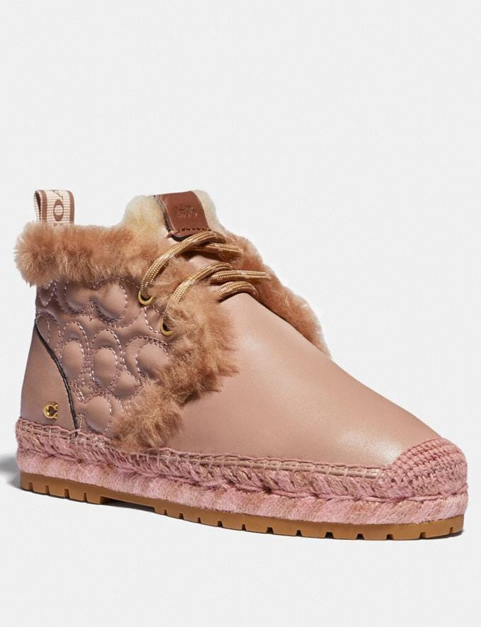 Coach Aileen Espadrille Bootie Pale Blush/Gingersnap Women Shoes Boots