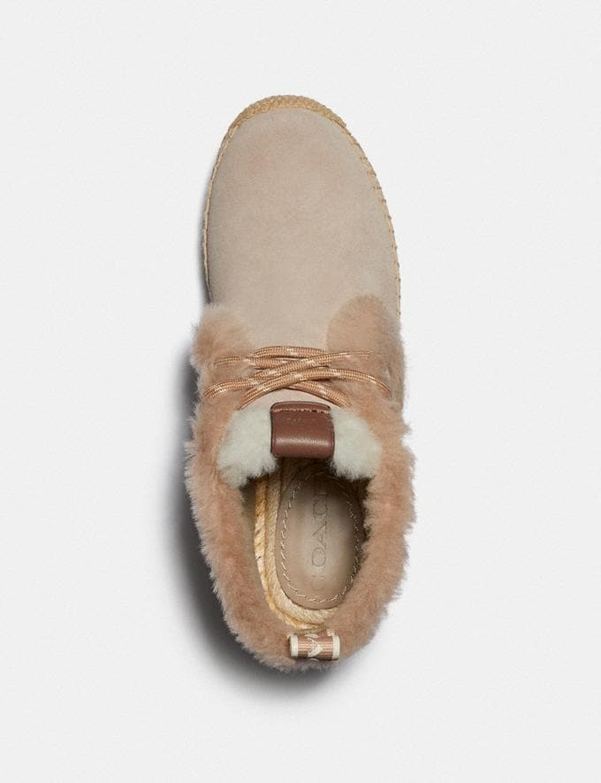 Coach Aileen Espadrille Bootie Oat/Light Caramel New Women's New Arrivals Shoes Alternate View 2