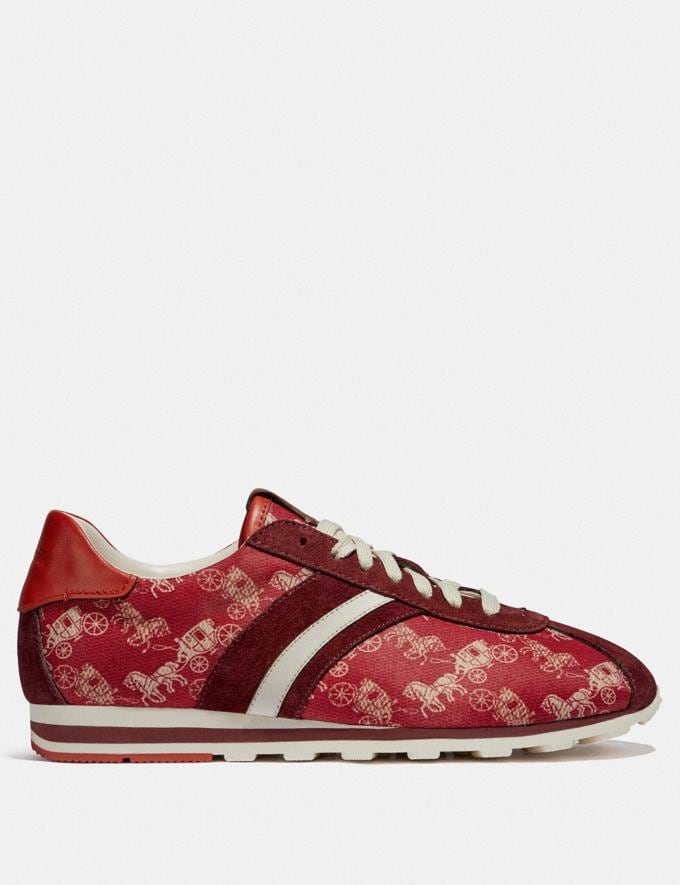 Coach C170 Retro Runner With Horse and Carriage Print Red/Racing Orange New Women's New Arrivals Alternate View 1