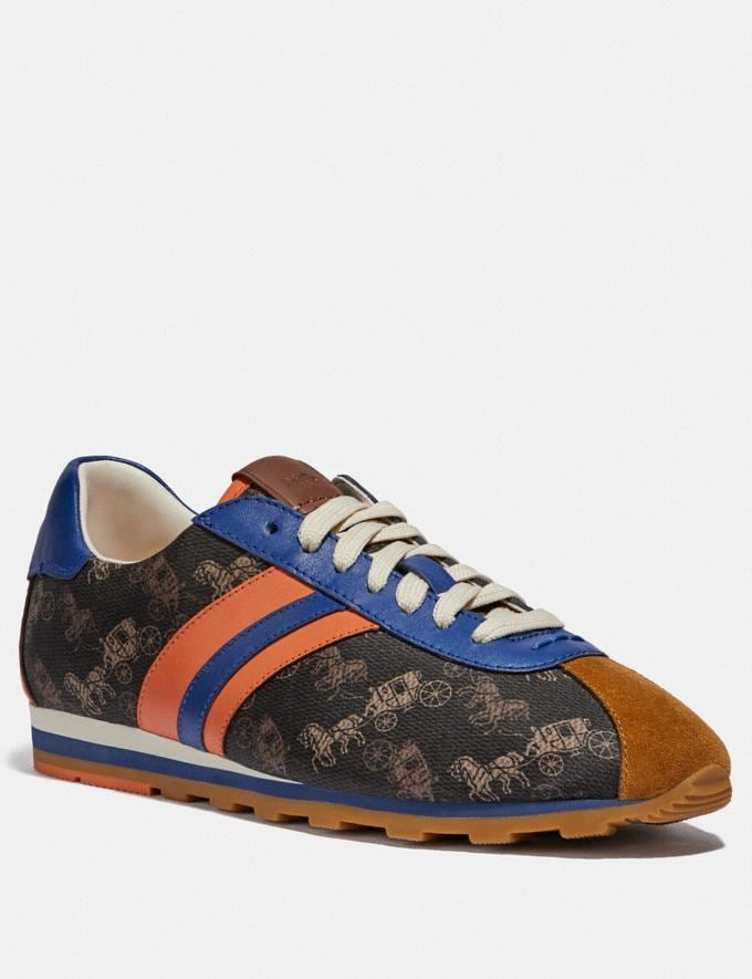 Coach C170 Retro Runner With Horse and Carriage Print Brown/Cadet New Women's New Arrivals