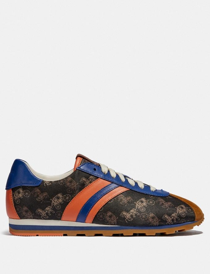 Coach C170 Retro Runner With Horse and Carriage Print Brown/Cadet New Women's New Arrivals Alternate View 1